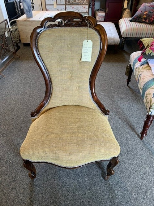 Antique Restored & Re-Upholstered Victorian Fireside/Nursing Chair
