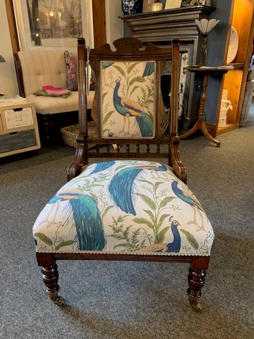 Antique Late Victorian Fire Side Chair