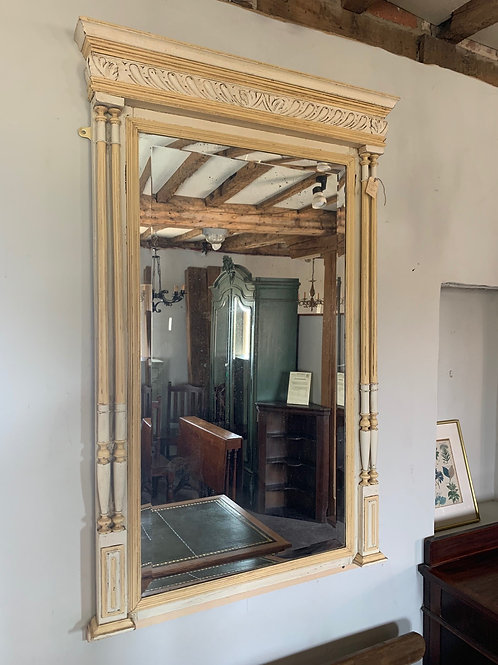 Antique French Pier Mirror with Double Columns Circa 1870