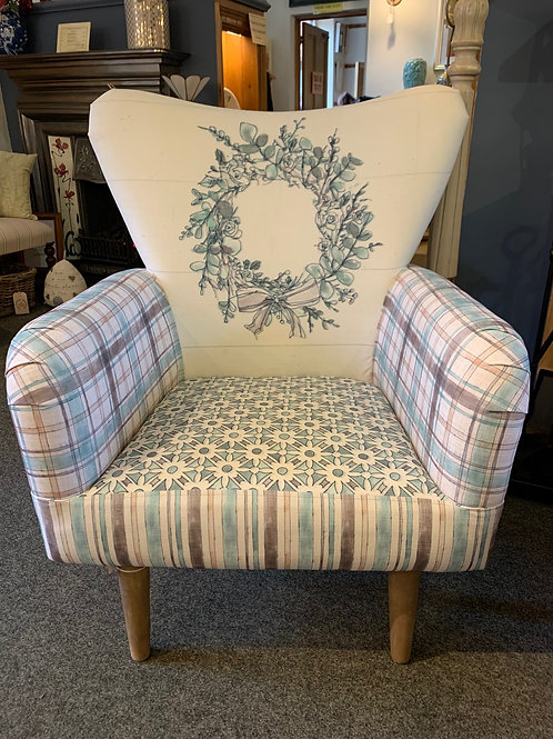 Floral Wreath Arm Chair - Front View