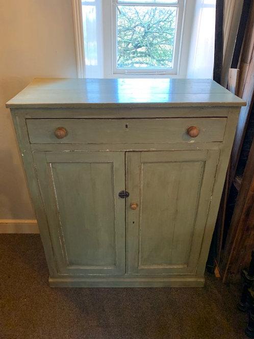 Antique French Painted 2 Door Cupboard -