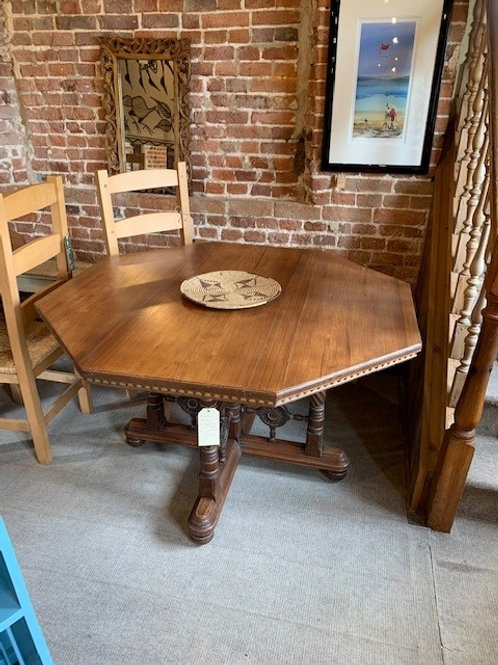 Vintage Arts & Crafts Style Octagonal Hall/Dining Table