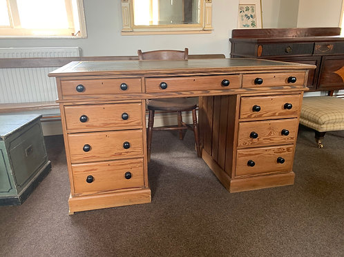 Vintage Partners Desk with Leather Top.