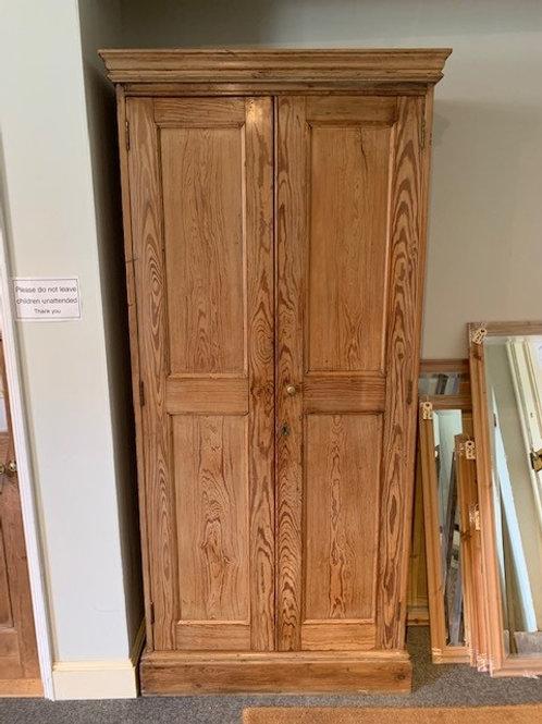 Victorian 2 Door Pitch Pine Larder Cupboard - front view