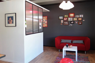 l'entrée du studio photo, accueil