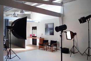 vue interieure du studio photo, coin maquillage
