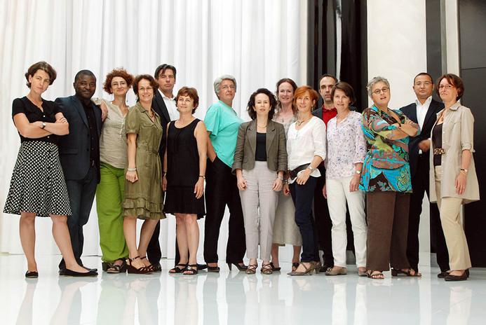groupe de collaborateurs et  collaboratr