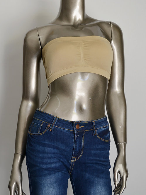Bandeau Tube Bra Top with pad