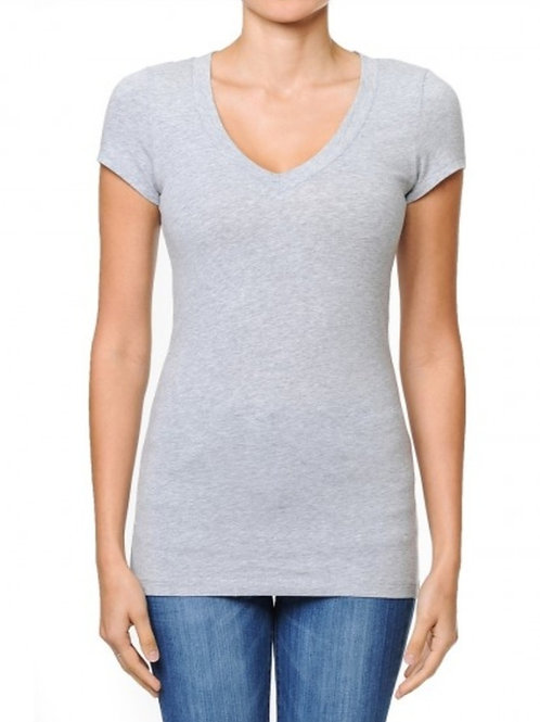 V-Neck Shortsleeve Basic T-Shirt