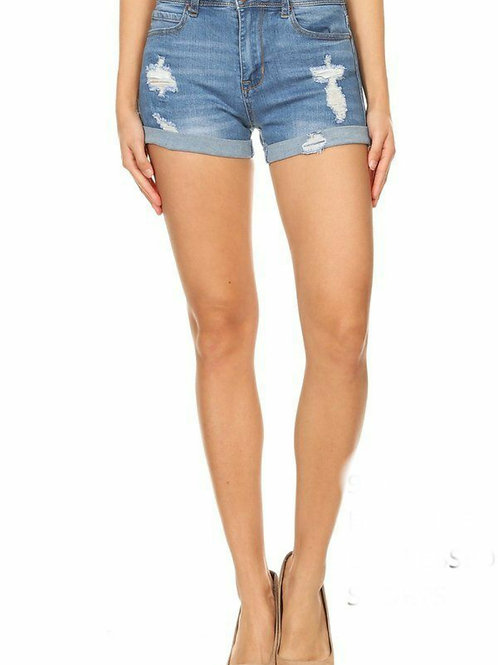 Highrise Distressed Shorts