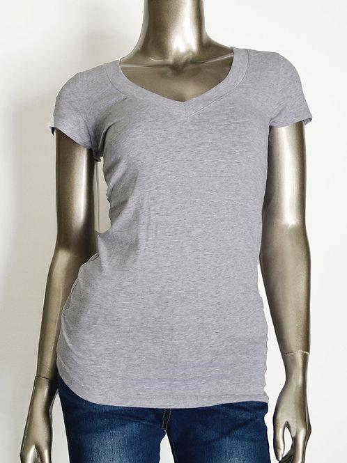 V-Neck Shortsleeve Basic T-Shirt