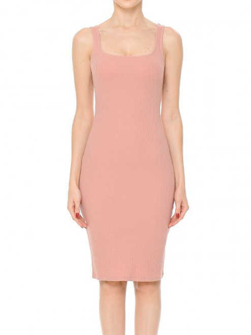 Square neck midi dress