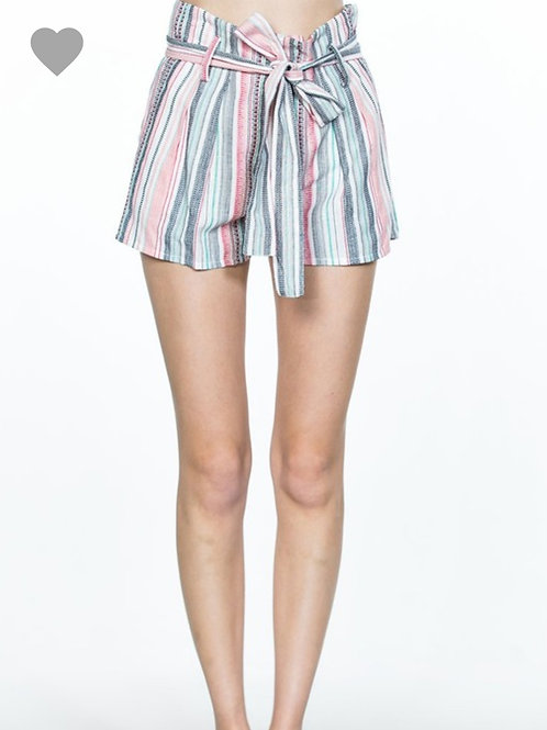 Waisted Belted Shorts