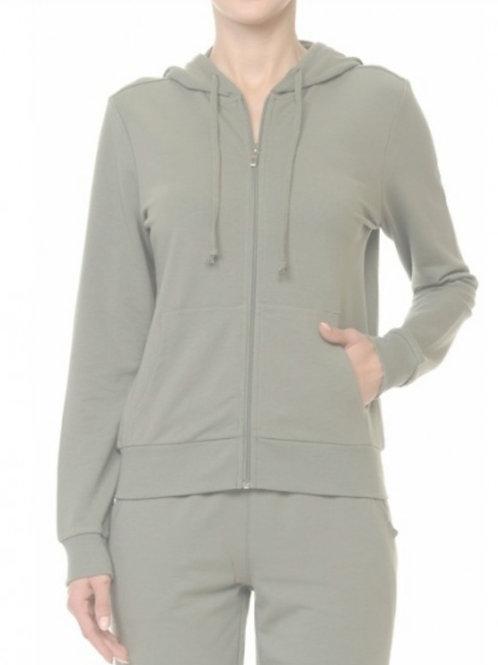 Long sleeve french Terry zip hoodie