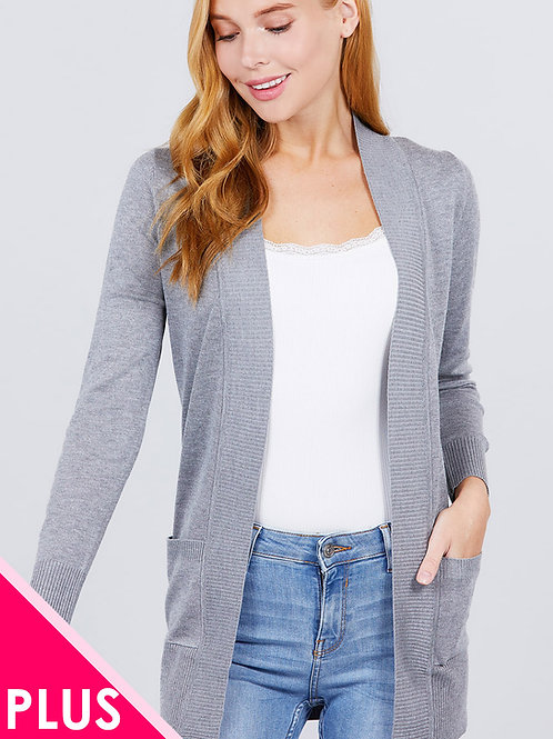 Knit Cardigan Plus