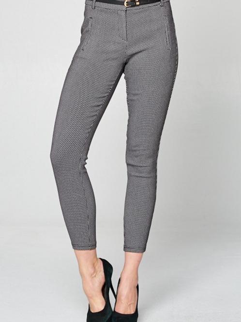 Polka Dot Belted Crop Pants