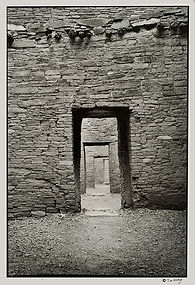 Transcendence Chaco door Anasazi ruin