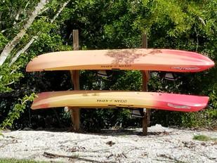 Kayaks on the property
