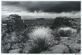 Pueblo Alto Anasazi ruin storm