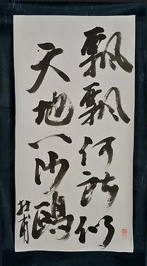 Du Fu Sand Gull callgraphy
