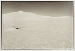 Mirage woman in dune