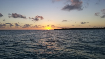 View of Sunset from a boat