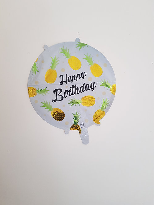HAPPY BIRTHDAY PINEAPPLE BALLOON