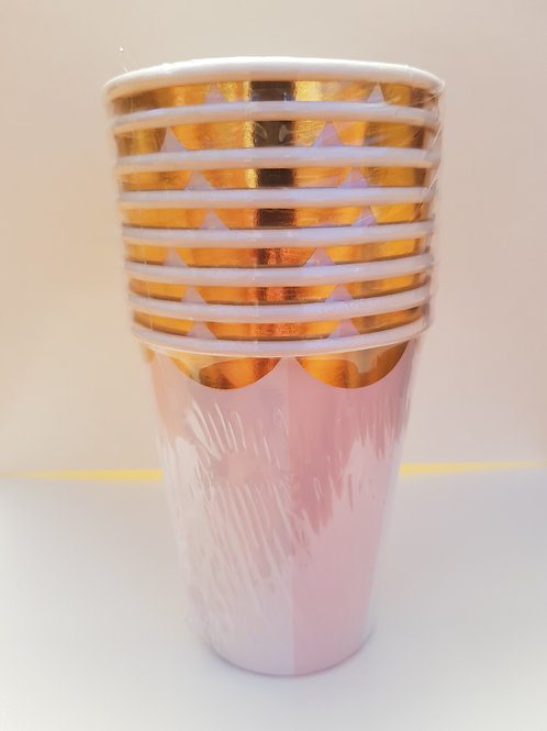 PINK & GOLD FESTIVITY CUPS