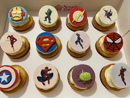 SUPERHEROES CUPCAKES (12)