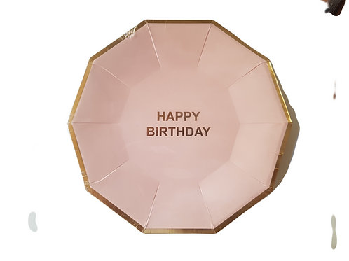 PINK OR BLUE HAPPY BIRTHDAY PLATES