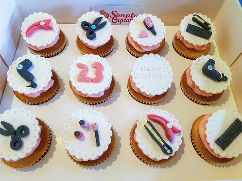 HAIRDRESSER THEME CUPCAKES (12)
