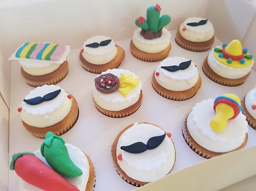 MEXICAN THEMED CUPCAKES (12)