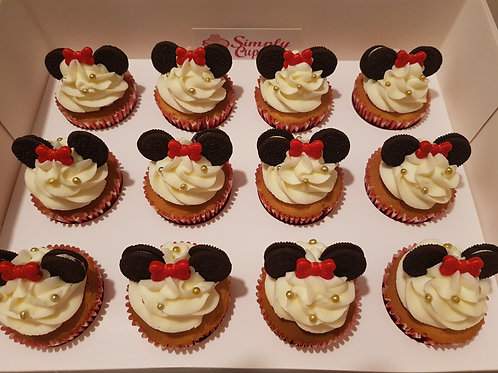MINNIE MOUSE CUPCAKES (12)