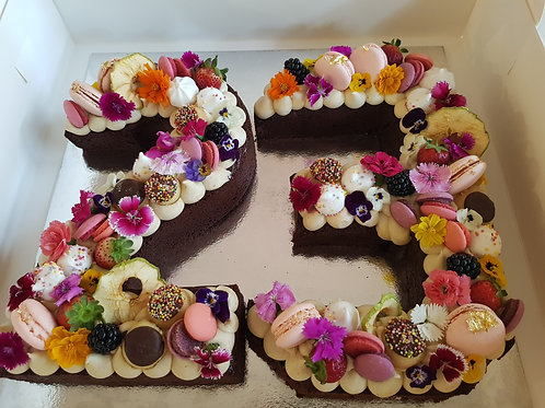 EXTRAVAGANT NUMBER CAKE