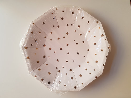 STARRY CARDBOARD PARTY PLATES (8)