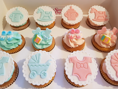 BABY SHOWER CUPCAKES (12)