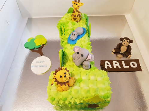 JUNGLE ANIMAL CAKE