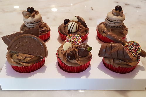 CHOCOHOLIC SELECTION CUPCAKES DOZEN (12)