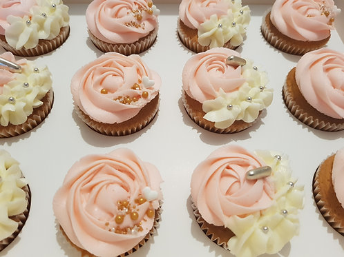 CLASSIC PINK CUPCAKES (12)