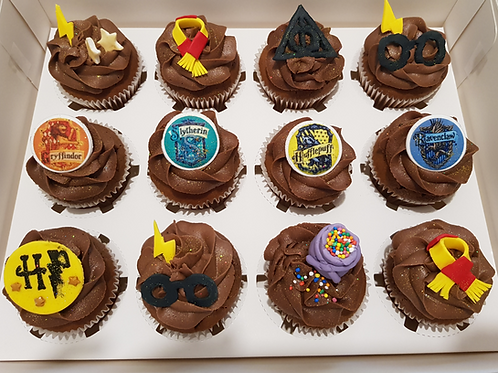 HARRY POTTER THEMED CUPCAKES (12)