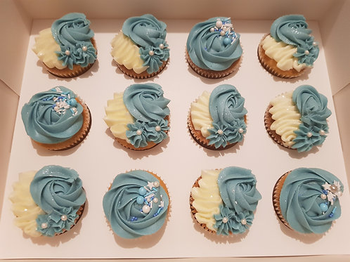 ROYAL BLUE CUPCAKES (12)