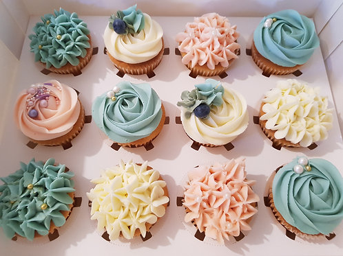FLORAL SELECTION CUPCAKES (12)