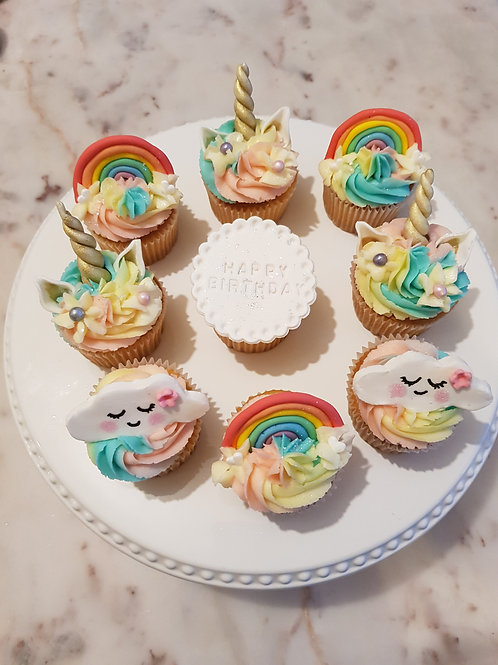 UNICORN THEMED CUPCAKES(12)