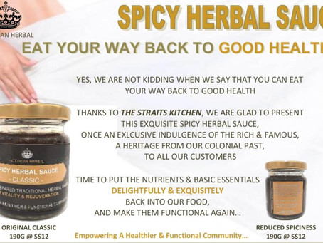 EAT YOUR WAY BACK TO HEALTH - SPICY HERBAL SAUCE