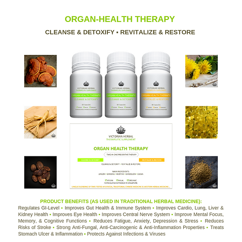 ORGAN HEALTH THERAPY I REGULAR 3-MONTH THERAPY PACK