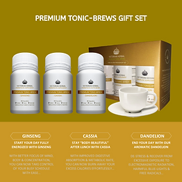 Premium Tonic-Brews 3-In-1 Gift Set
