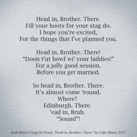 Stag Do Poem