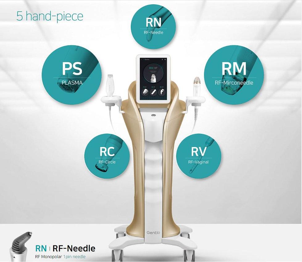 MediCel Gentlo Handpieces And Machine