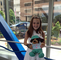 Delivering letters to kids with cancer