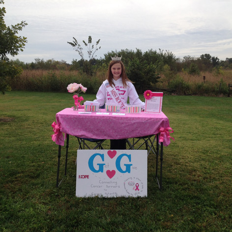 My table at the Making Strides against Breast Cancer Walk